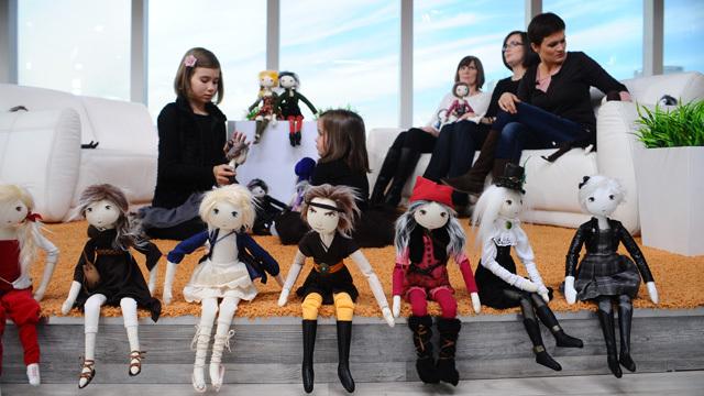szmaciane lalki oraz pomysłodawczyni i projektantki